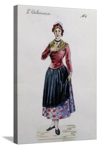 Costume Sketch for Rosa in L'Arlesiana, Opera by Francesco Cilea--Stretched Canvas Print
