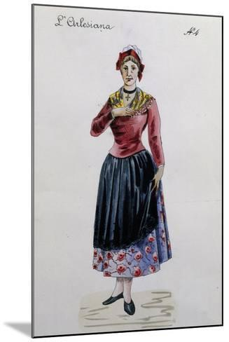 Costume Sketch for Rosa in L'Arlesiana, Opera by Francesco Cilea--Mounted Giclee Print