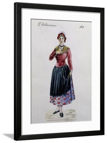 Costume Sketch for Rosa in L'Arlesiana, Opera by Francesco Cilea--Framed Art Print