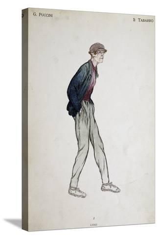 Costume Sketch for Role of Luigi in Opera Il Tabarro--Stretched Canvas Print