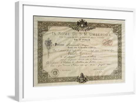 Bachelor's Degree in Literature of Giovanni Pascoli--Framed Art Print