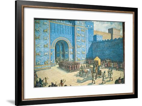 Illustration of the Ishtar Gate in Ancient Babylon--Framed Art Print