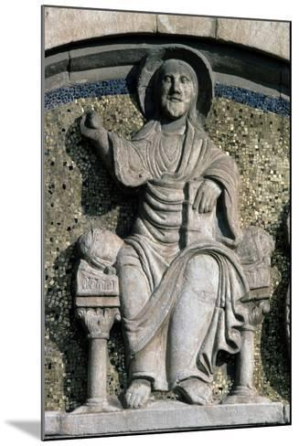 Jesus on Throne, Bas-Relief, Detail from Lunette Above Entrance Door--Mounted Giclee Print