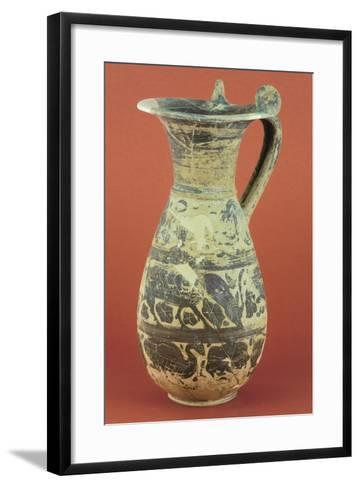 Wine Pitcher with Animal Motifs from the Vulci Territory--Framed Art Print