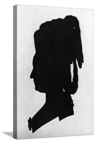 Silhouette of Baroness Martha Elisabeth Von Waldstatten--Stretched Canvas Print