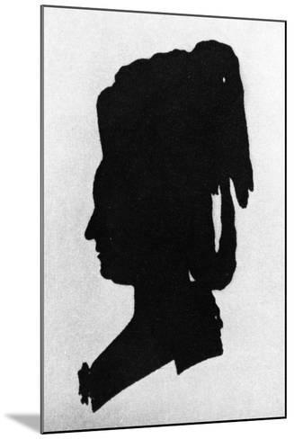 Silhouette of Baroness Martha Elisabeth Von Waldstatten--Mounted Giclee Print