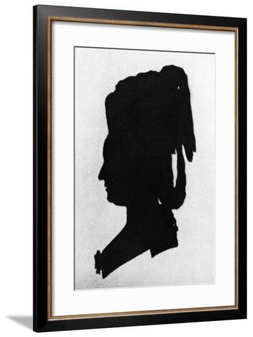 Silhouette of Baroness Martha Elisabeth Von Waldstatten--Framed Art Print