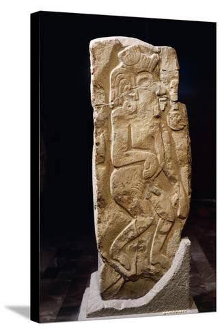 Stele of Dancers, Artifact Originating from Monte Alban--Stretched Canvas Print