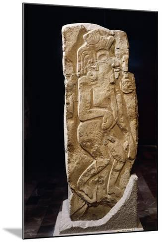 Stele of Dancers, Artifact Originating from Monte Alban--Mounted Giclee Print