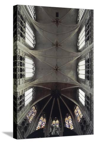 Interior View of Vault of Cathedral of St Rombaut--Stretched Canvas Print