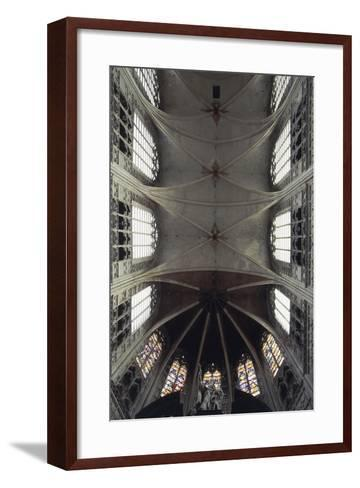 Interior View of Vault of Cathedral of St Rombaut--Framed Art Print