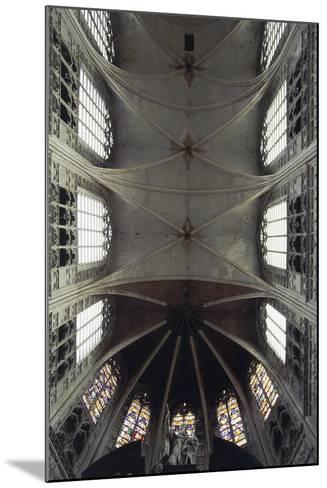 Interior View of Vault of Cathedral of St Rombaut--Mounted Giclee Print