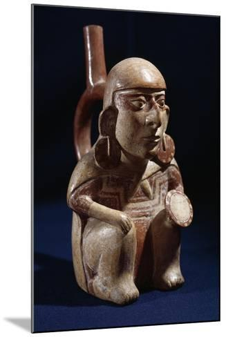 Terracotta Vase in Shape of Warrior, Moche or Mochica Culture--Mounted Giclee Print