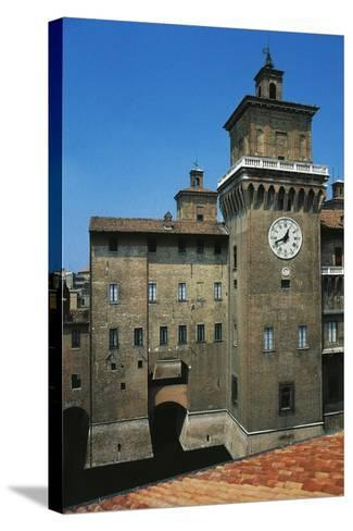 The Main Tower, Castle Estense or Castle of St Michael--Stretched Canvas Print