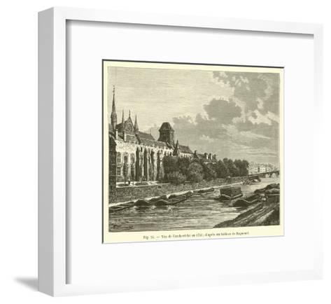Vue De L'Archeveche En 1751; D'Apres Un Tableau De Raguenet--Framed Art Print