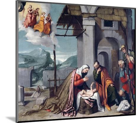 Adoration of Shepherds by Giovanni Battista Moroni--Mounted Giclee Print
