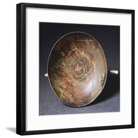 Kylix with Strigil Shaped Ornaments from Marzabotto--Framed Art Print