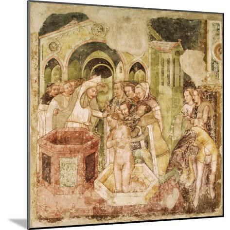 Legend of St Ursula: Baptism of Prince of England, by Tommaso Da Modena--Mounted Giclee Print