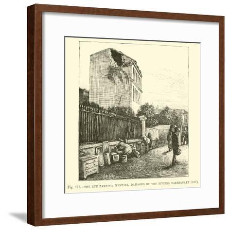 The Rue Partono, Mentone, Damaged by the Riviera Earthquake, 1887--Framed Art Print