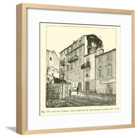 The Rue Debray, Nice, Damaged by the Riviera Earthquake, 1887--Framed Art Print