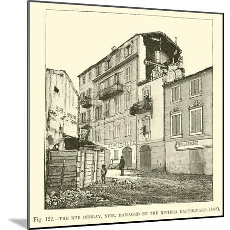 The Rue Debray, Nice, Damaged by the Riviera Earthquake, 1887--Mounted Giclee Print