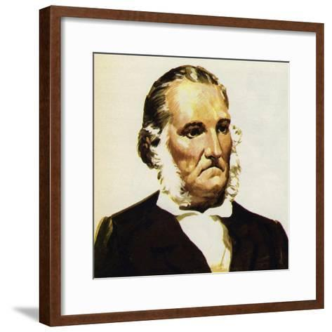 Audubon Brought Together His Bird Paintings in the Birds of America--Framed Art Print