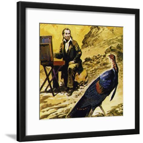 Audubon Devoted His Life to Painting the Birds of America--Framed Art Print