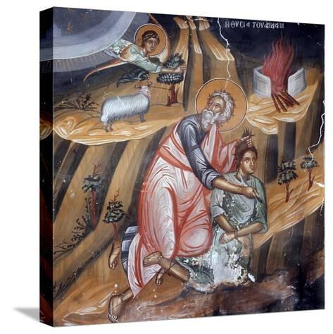 Abraham Offering Isaac for Sacrifice, Cretan School--Stretched Canvas Print