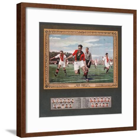 Depiction of a Match Between Ado Den Haag and Ajax, 1933--Framed Art Print