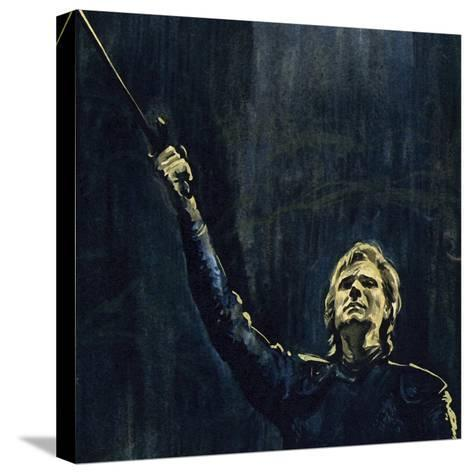 Wagner's Parsifal Was the Story of a Knight of the Holy Grail--Stretched Canvas Print