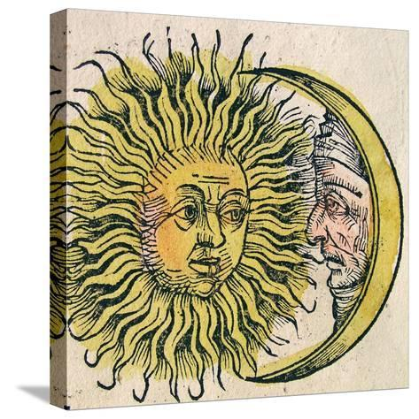 The Sun and Moon, Published in the Nuremberg Chronicle, 1493--Stretched Canvas Print