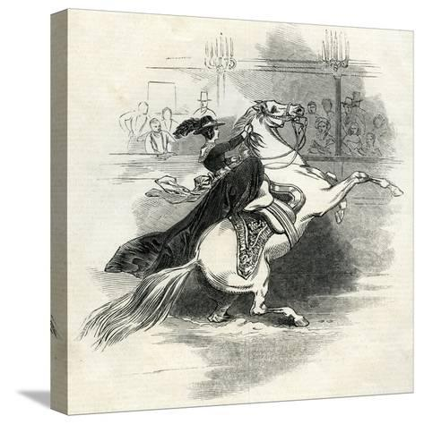 Astley's Amphitheatre, London, Scene in the Circus--Stretched Canvas Print