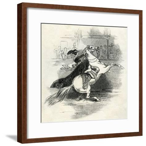 Astley's Amphitheatre, London, Scene in the Circus--Framed Art Print
