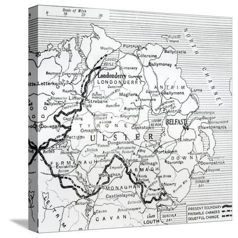 The Boundary Position, from 'The Morning Post', 7th November 1925--Stretched Canvas Print