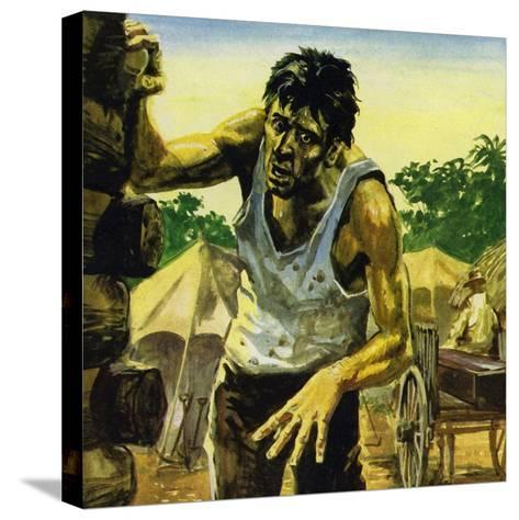 Work on the Panama Canal Was Brought to a Halt by Yellow Fever--Stretched Canvas Print