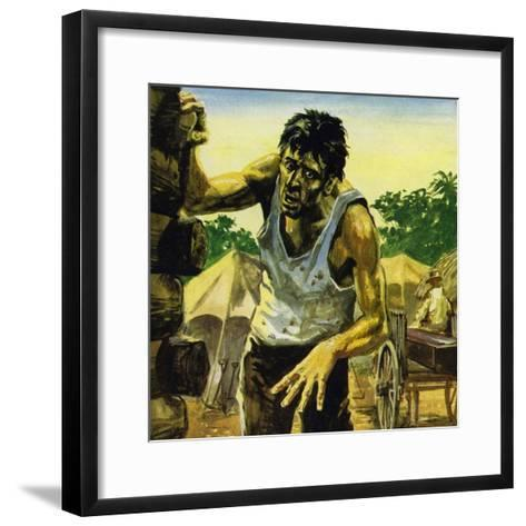 Work on the Panama Canal Was Brought to a Halt by Yellow Fever--Framed Art Print