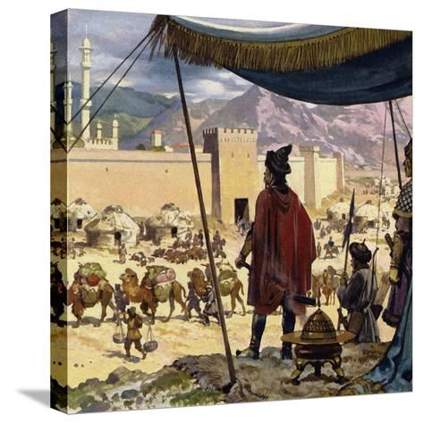 Genghis Khan Decided That Caracorum Would Be His Capital-Alberto Salinas-Stretched Canvas Print
