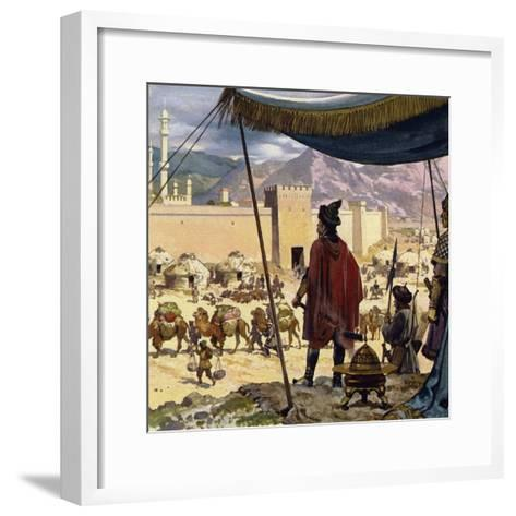 Genghis Khan Decided That Caracorum Would Be His Capital-Alberto Salinas-Framed Art Print
