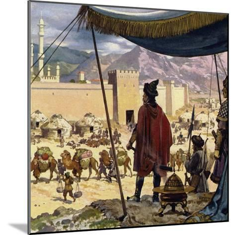 Genghis Khan Decided That Caracorum Would Be His Capital-Alberto Salinas-Mounted Giclee Print