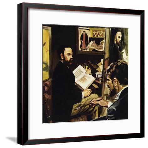 Emile Zola Predicted That Manet's Work Would Hang in the Louvre-Luis Arcas Brauner-Framed Art Print