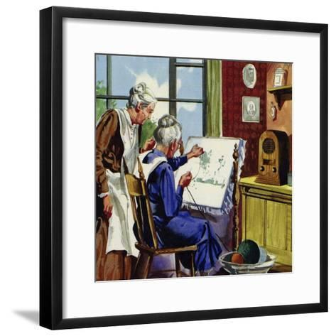 Anna Moses Took Up Sewing Pictures in Brightly Coloured Wool--Framed Art Print