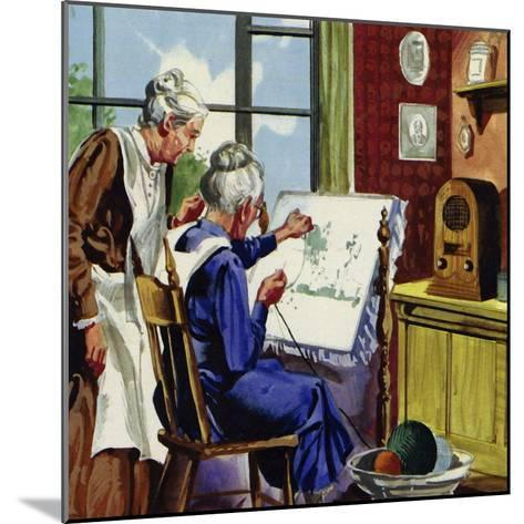 Anna Moses Took Up Sewing Pictures in Brightly Coloured Wool--Mounted Giclee Print
