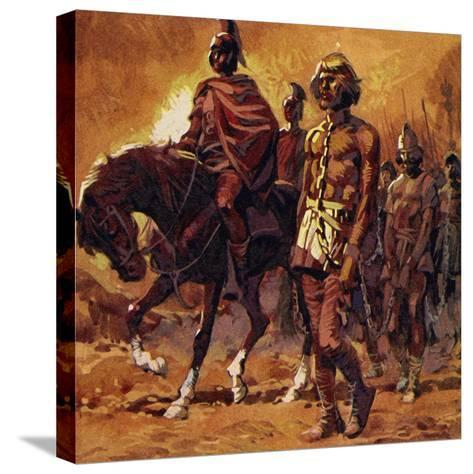 Vercingetorix Put on His Finest Armour and Surrendered--Stretched Canvas Print