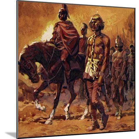 Vercingetorix Put on His Finest Armour and Surrendered--Mounted Giclee Print