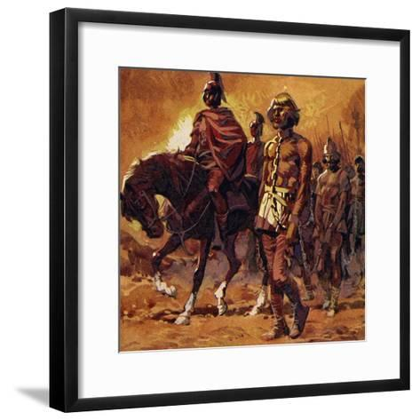 Vercingetorix Put on His Finest Armour and Surrendered--Framed Art Print