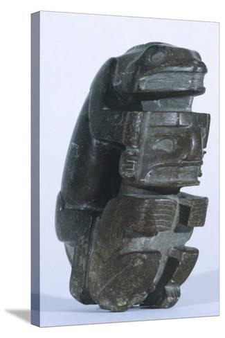 Human Figure in Slate, Artifact Originating from Sucuruju--Stretched Canvas Print