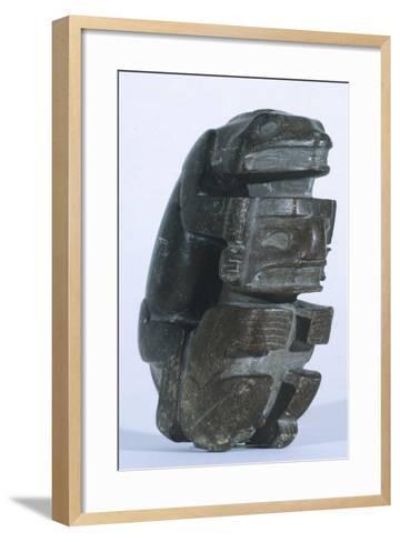 Human Figure in Slate, Artifact Originating from Sucuruju--Framed Art Print