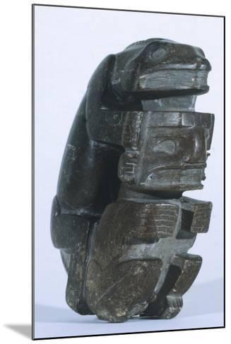 Human Figure in Slate, Artifact Originating from Sucuruju--Mounted Giclee Print