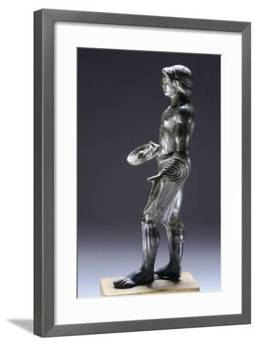 Young Male Praying, Bronze Figurinette from Monteacuto Ragazza--Framed Art Print
