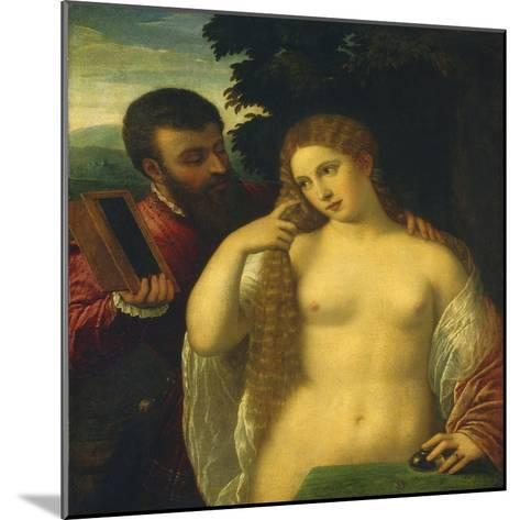 Allegory, Possibly Alfonso D'Este and Laura Dianti-Titian (Tiziano Vecelli)-Mounted Giclee Print